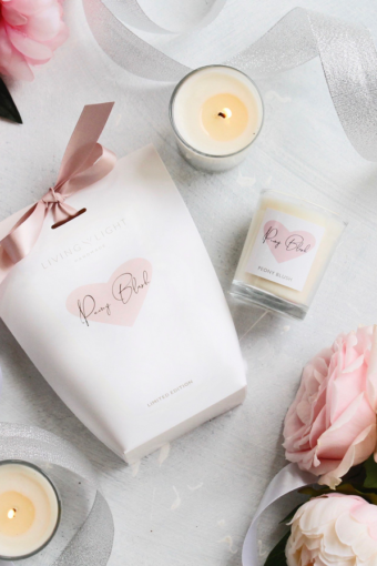 Peony Blush Soy Votive in Gift Bag