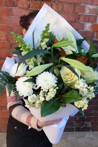 Mixed White & Green Bouquet